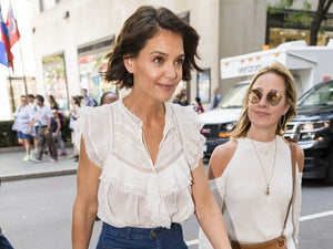 Katie Holmes at The Perksicle Tour in Ulla Johnson