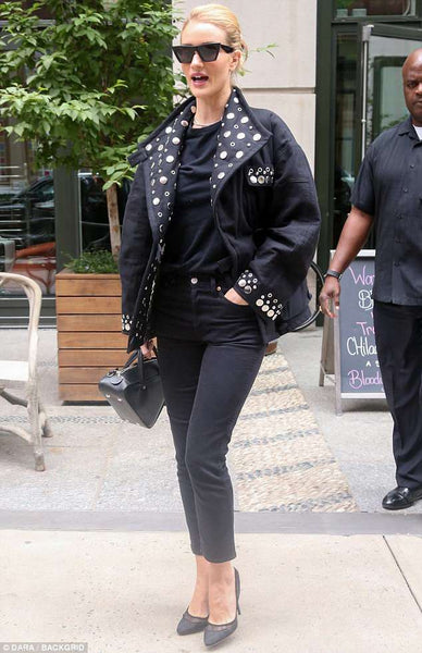 Rosie Huntington-Whiteley wears Isabel Marant jacket