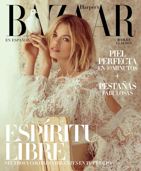 Hailey Clauson on the cover of Harper's Bazaar Mexico and Latin America