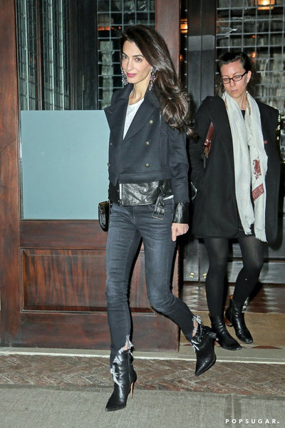 Amal Clooney wearing R13 and Veronica Beard in NY