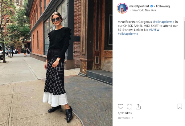 Shop Self Portrait Women's Skirts at Bonito Silicon Valley - Olivia Palermo