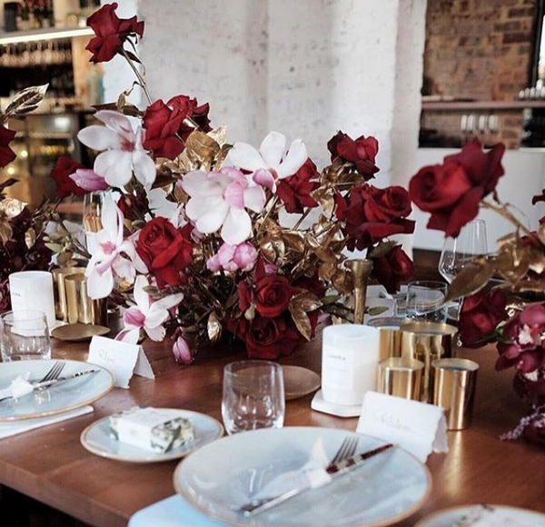 Designer Samantha Wills set gorgeous table with Cocolux Australia Candles