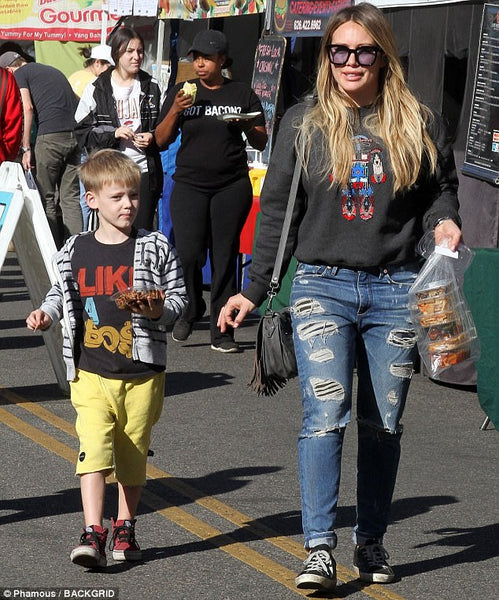 Hilary Duff in Golden Goose sneakers