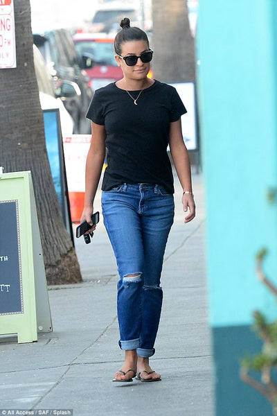 Lea Michele wearing R13 Denim