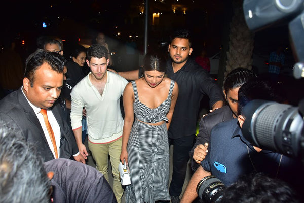 Nick Jonas out with Priyanka Chopra wearing ALC