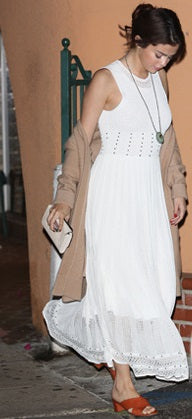 Selena Gomez wearing a Ronni Kobo dress