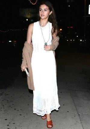 Selena Gomez wearing Ronny Kobo dress
