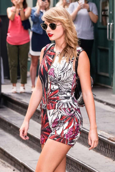 Taylor Swift wearing Fausto Puglisi romper