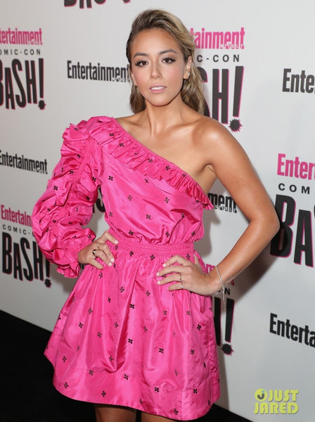 Chloe Bennet wearing Ulla Johnson dress at Comic-Con