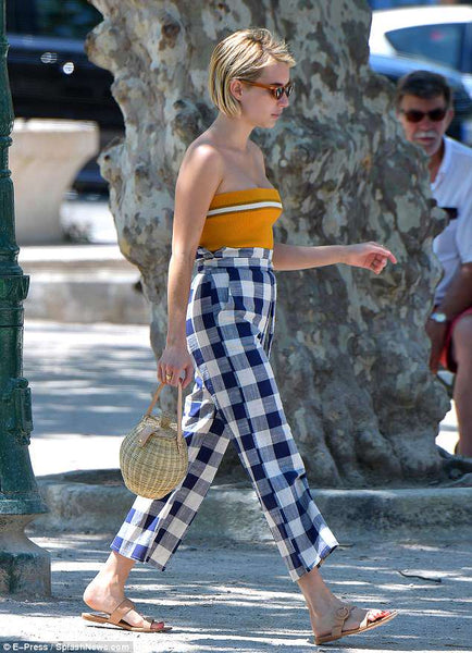 Emma Roberts carrying an Ulla Johnson bag in St. Tropez