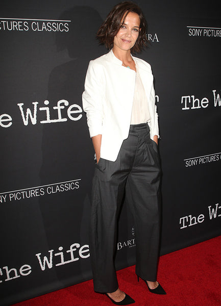 Katie Holmes wearing Isabel Marant at The Wife premiere