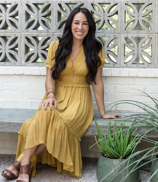 Joanna Gaines wears Ulla Johnson dress
