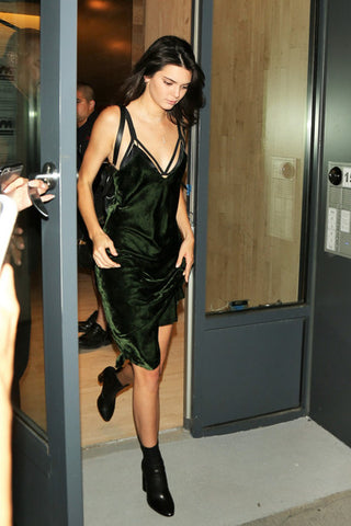 Kendall Jenner wearing Nili Lotam dress