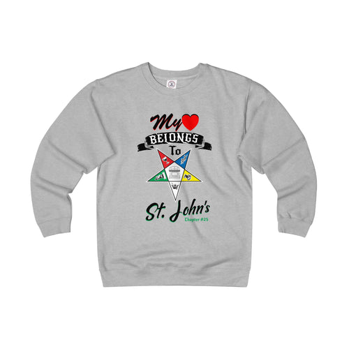 OES St Johns # Dark font Adult Unisex Heavyweight Fleece Crew