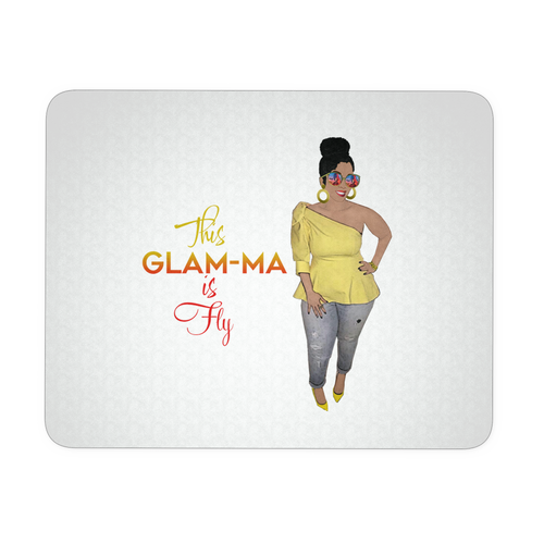 Glam-Ma is Fly Mouse Pad