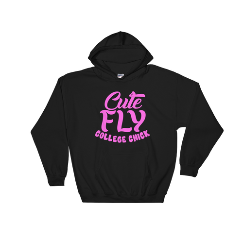 Cute Fly College Chick Hooded Sweatshirt