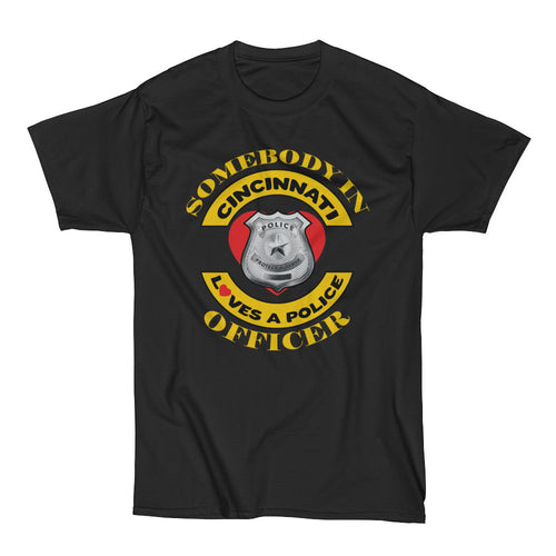 Cincinnati Police Love BLK shirt 4X-6XL