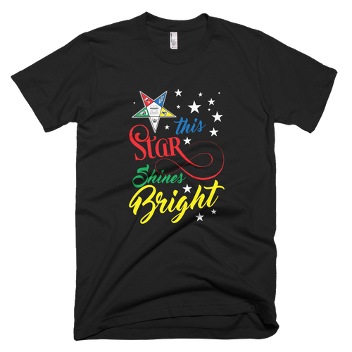 My Star shines Bright Short sleeve Unisex t-shirt