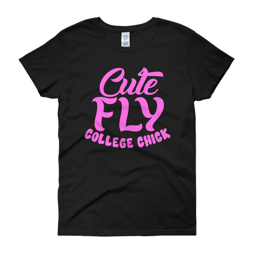 Cute Fly College Chick Women's short sleeve t-shirt
