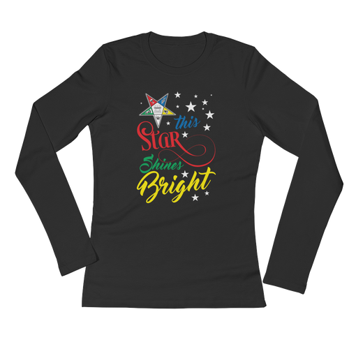 My Star shines Bright Ladies' Long Sleeve T-Shirt
