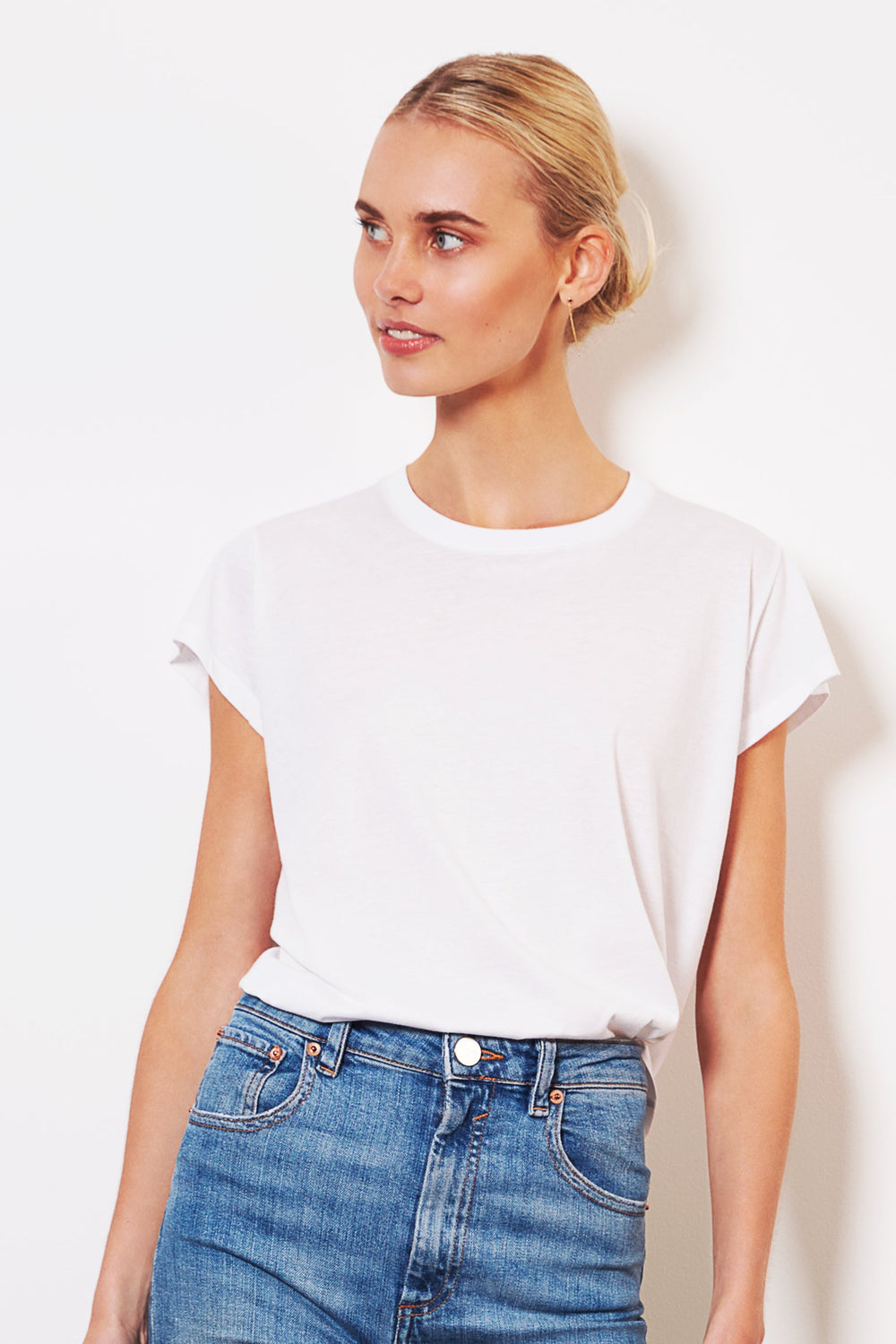 shop ethical sustainable & ethical clothing by bon Crew Tee - White