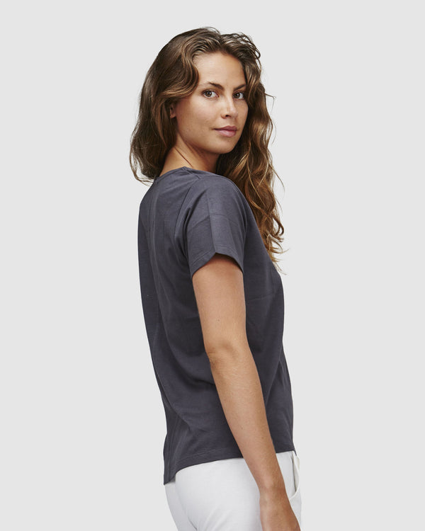 shop ethical sustainable & ethical clothing by Cloth & Co. Classic V Neck Tee | Ink