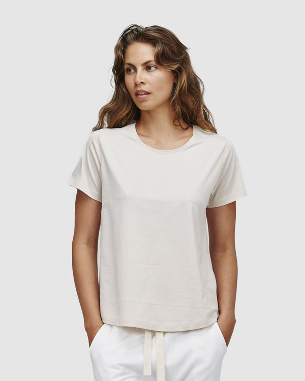 shop ethical sustainable & ethical clothing by Cloth & Co. Crew Neck T-Shirt | Ecru