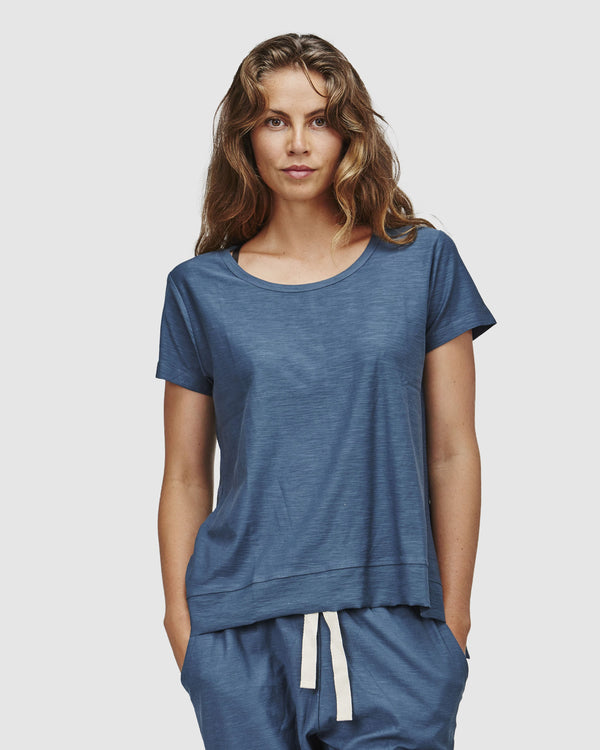 shop ethical sustainable & ethical clothing by Cloth & Co. Slub T-Shirt | Indian Teale