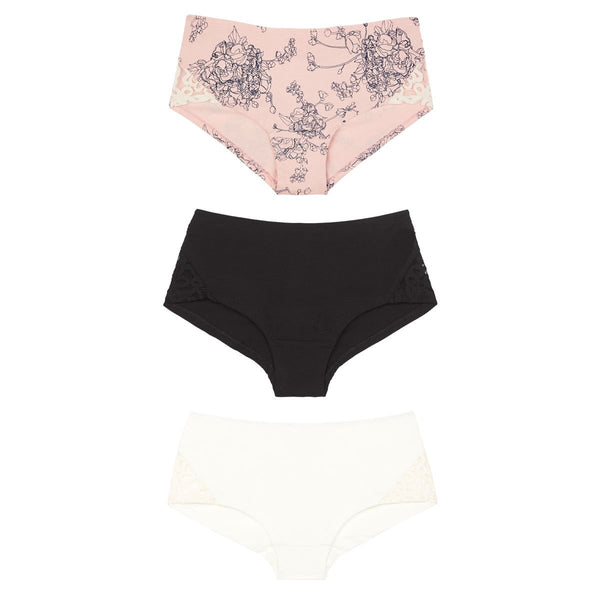 shop ethical sustainable & ethical clothing by Eco Intimates Greta knickers (mid rise) in black