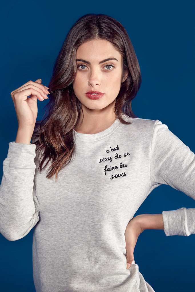 shop ethical sustainable & ethical clothing by bon C'est Sexy Embroidered Sweater