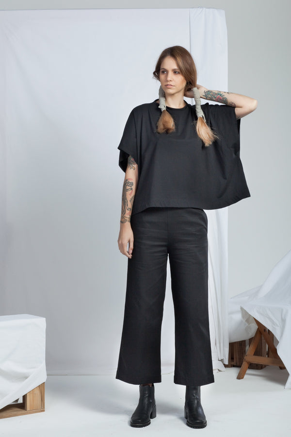 shop ethical sustainable & ethical clothing by RECREATE Arcade Top | Black
