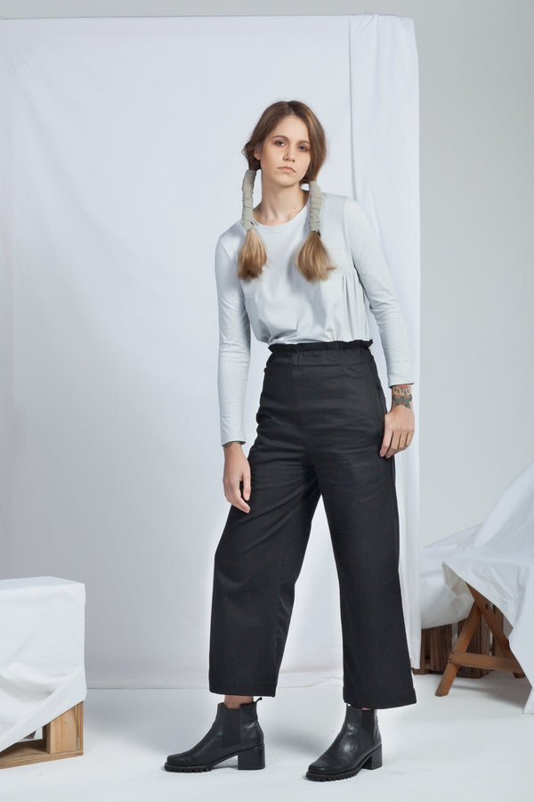 shop ethical sustainable & ethical clothing by ReCreate Clothing Ease Pant | Black Denim
