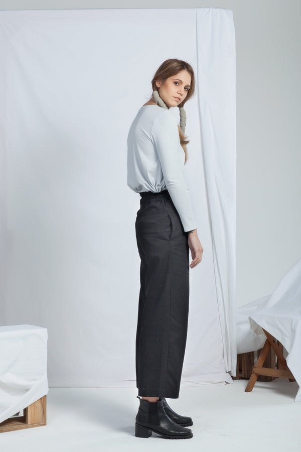 shop ethical sustainable & ethical clothing by RECREATE Ease Pant | Black Denim
