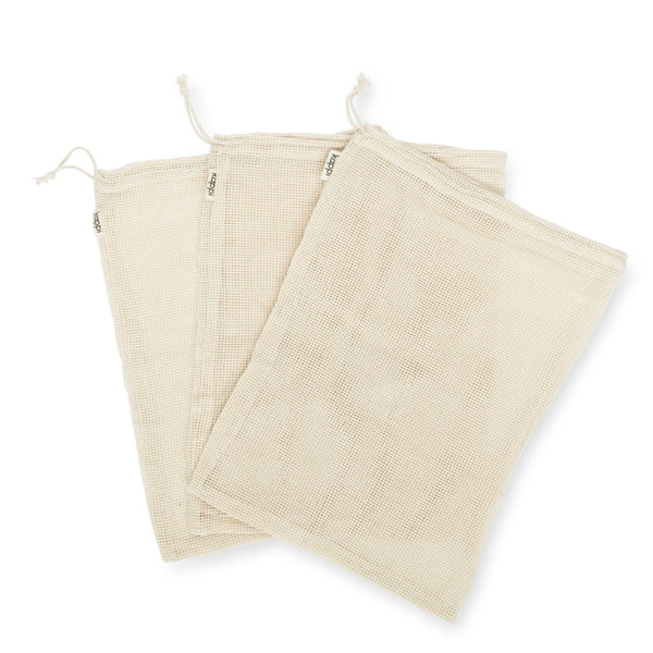 shop ethical sustainable & ethical clothing by Kappi Reusable Mesh Produce Bags - Organic Cotton 3-Pack