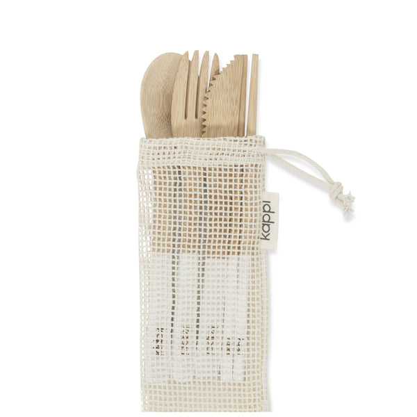 shop ethical sustainable & ethical clothing by Kappi Reusable Bamboo Cutlery Set *PREORDER*