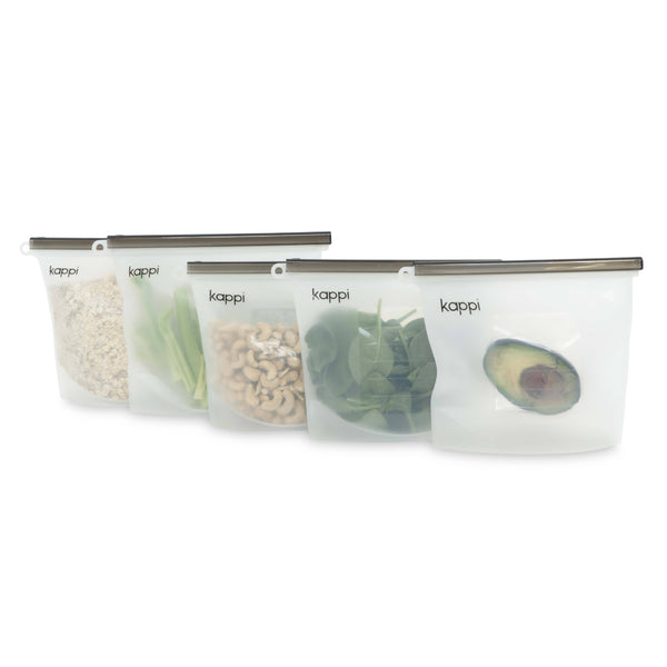 shop ethical sustainable & ethical clothing by Kappi Reusable Silicone Ziplock Bags 1500ml