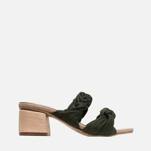 shop ethical sustainable & ethical clothing by R E V I E BAHAMAS MULE // MOSS GREEN