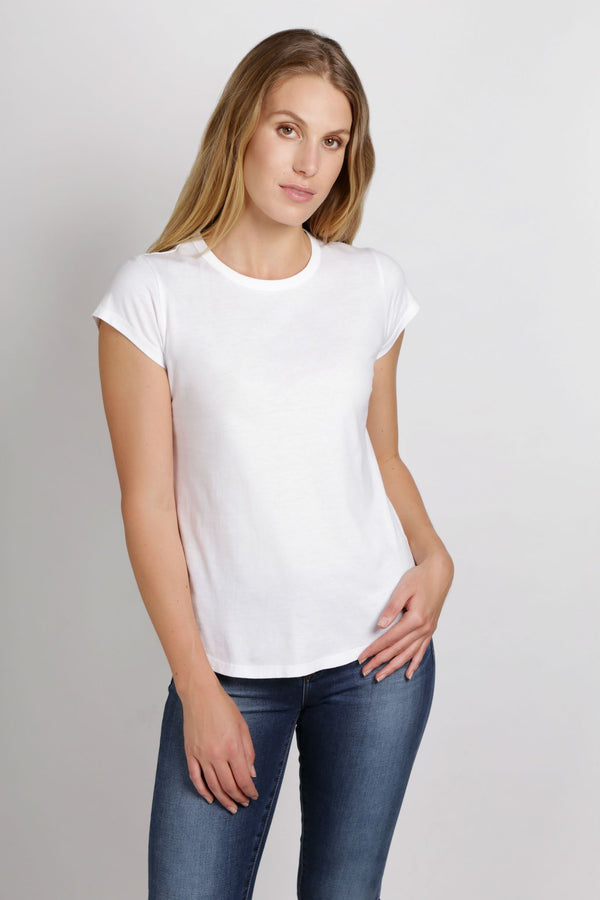 shop ethical sustainable & ethical clothing by Twill and Tee Basic Crew Tee | White