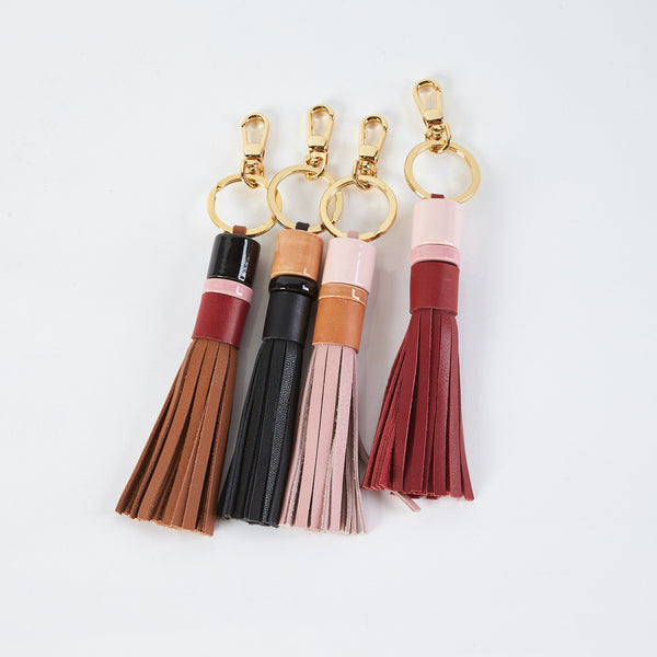 shop ethical sustainable & ethical clothing by MINIMA HANDCRAFTED Beaded Tassel Keychain