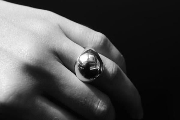 shop ethical sustainable & ethical clothing by EMBR jewellery Silver body ring