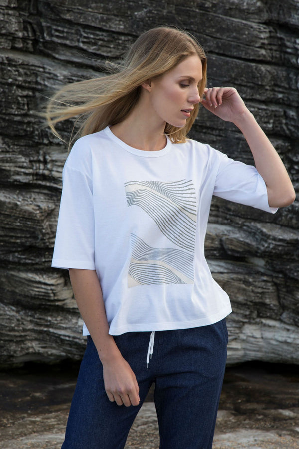 shop ethical sustainable & ethical clothing by Twill and Tee Thread Lines Box | Viva Tee