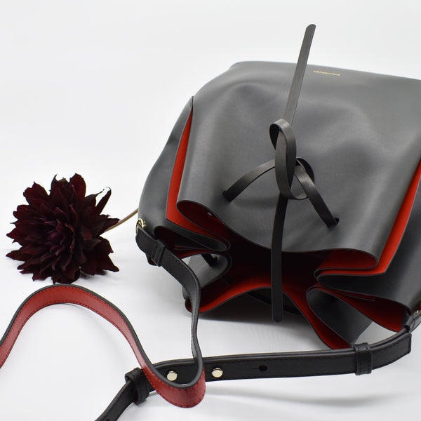 shop ethical sustainable & ethical clothing by BALINCOURT The Prima Rosa Bucket Bag