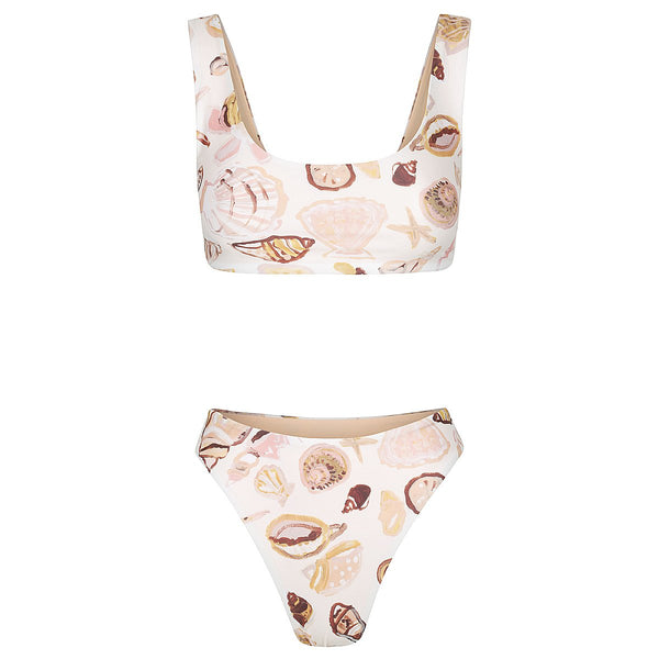 shop ethical sustainable & ethical clothing by CLEONIE POSITANO SEASHELL SUPER CHEEKY BRIEF