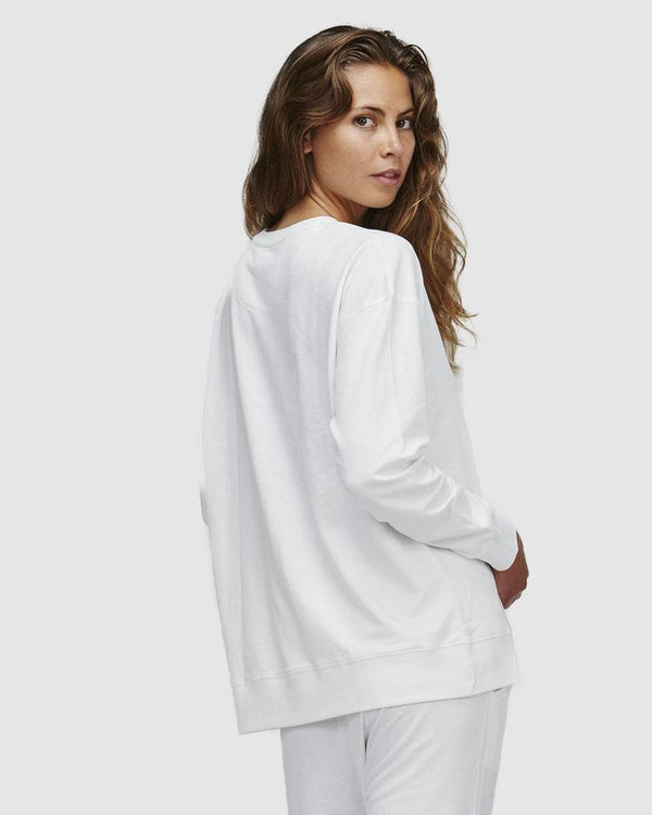 shop ethical sustainable & ethical clothing by Cloth & Co. Classic Terry Sweat | Gardenia