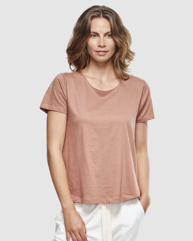 shop ethical sustainable & ethical clothing by Cloth & Co. Crew Neck T-Shirt | Cedar