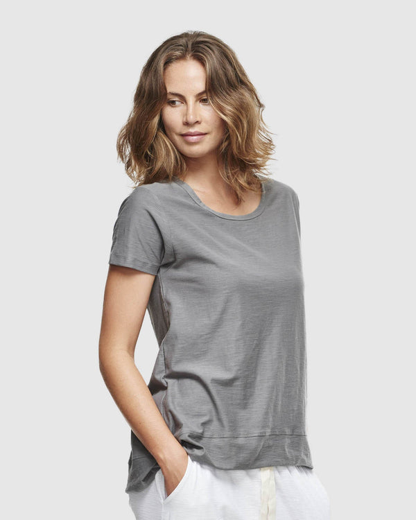 shop ethical sustainable & ethical clothing by Cloth & Co. Slub T-Shirt | Charcoal