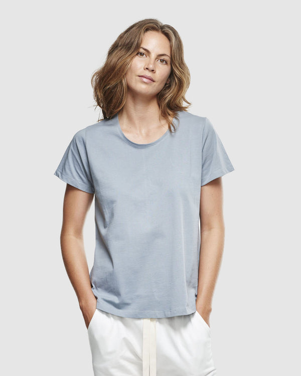 shop ethical sustainable & ethical clothing by Cloth & Co. Crew Neck T-Shirt | Perriwinkle