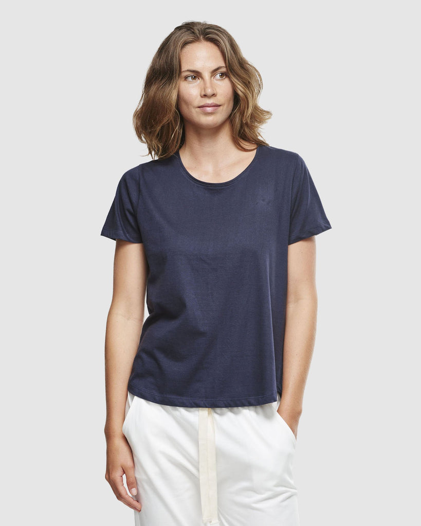 shop ethical sustainable & ethical clothing by Cloth & Co. Crew Neck T-Shirt | French Navy