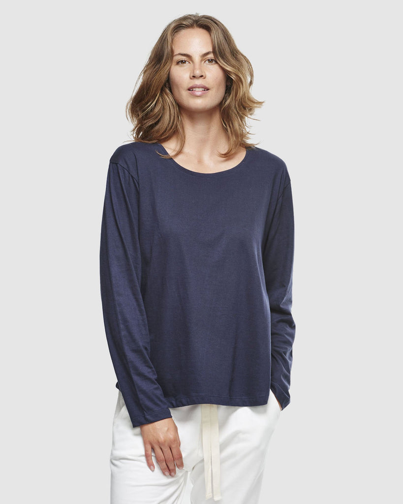 shop ethical sustainable & ethical clothing by Cloth & Co. Crew Neck Long Sleeve | French Navy