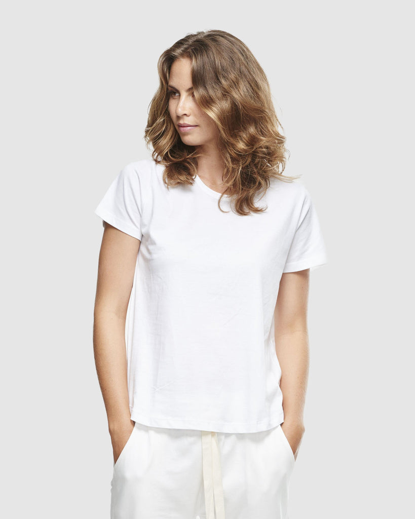 shop ethical sustainable & ethical clothing by Cloth & Co. Crew Neck T-Shirt | White